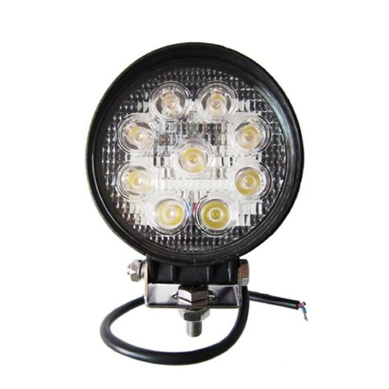 Proiector LED Auto Offroad 27W12V-24V, 1980 Lumeni Rotund
