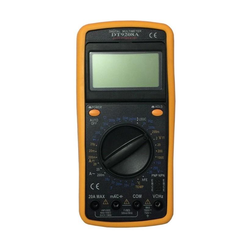 Aparat De Masura -- Multimetru Digital Profesional DT-9208A Carcasa Antisoc