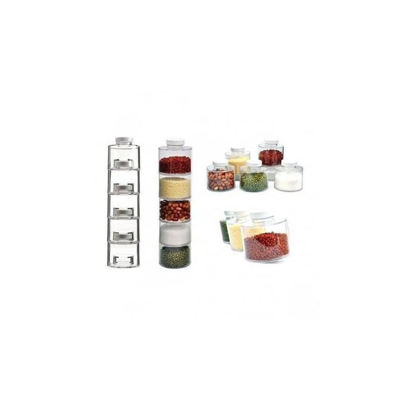 Set Pentru Condimente Spice Tower Cu 6 Recipiente